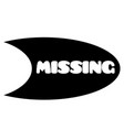 missing stamp on white vector image vector image
