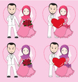 Muslim wedding couple vector image vector image