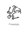 outline freestyle icon isolated black simple line vector image vector image