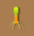 paper sticker on stylish background bacteriophage vector image