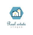 polygon real estate logo vector image