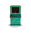 retro arcade game machine on a vector image