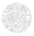 sale circle background from line icon vector image vector image