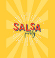 salsa party logotype vector image