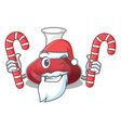 santa with candy red wine decanter isolated on vector image