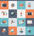 set flat design concept icons for business vector image vector image