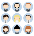 Set of colorful office businessman people icons vector image vector image