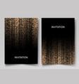 set wedding invitation cards design gold vector image