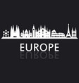 skyline europe vector image vector image