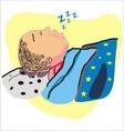 sleep vector image vector image