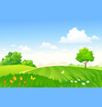 spring pasture vector image vector image