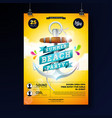 summer beach party poster design template vector image vector image