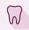 tooth icon tooth icon eps10 tooth icon vector image vector image