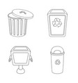 urn and symbol set of u vector image