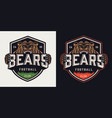 vintage soccer club colorful emblem vector image vector image