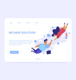 we have solution landing page concept vector image