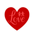 heart red sign vector image