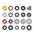 set of cog icons in many style vector image