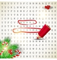 Solution of puzzleText Merry Christmas vector image