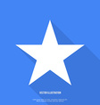 Star icon flat design with long shadow vector image