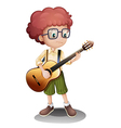 A young guitarist vector image vector image
