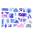 abstract cut out shapes textured hand drawn vector image vector image