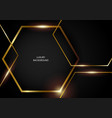 abstract hexagonal shapes with gold frames vector image