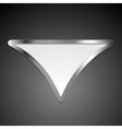 Abstract metallic triangle logo vector image vector image