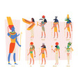ancient egypt gods pharaoh anubis osiris egyptian vector image