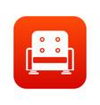 armchair icon digital red vector image vector image