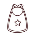 babib with star clothes garments for infant vector image vector image