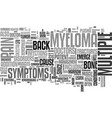back pain and multiple myeloma text word cloud vector image vector image