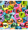 Background seamless with chemical formulas of vector image