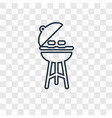 barbecue concept linear icon isolated on vector image