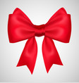 bow ribbon present red gift vector image vector image