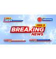 breaking news covid-19 wuhan 2019-ncov vector image vector image