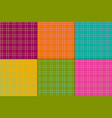 bright colors plaids vector image