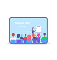 businessman pointing flip chart conference meeting vector image vector image