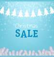 christmas sale poster with xmas tree vector image vector image