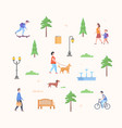 city park constructor - set of modern flat design vector image vector image