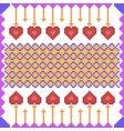 cross stitch embroidery design for seamless vector image vector image