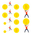 crypto currency cartoons set vector image vector image