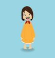 cute girl in the sleepwear vector image