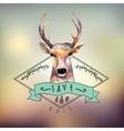 deer watercolor save date vector image vector image