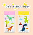 dino sticker pack vector image