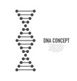 dna icon molecule dna dna symbol in flat style vector image vector image