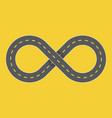 endless highway infinity symbol graphic vector image
