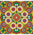 ethnic bright mandala style flowers pattern vector image vector image