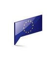 european union flag on a vector image vector image