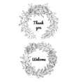 festive wedding wreaths vector image vector image